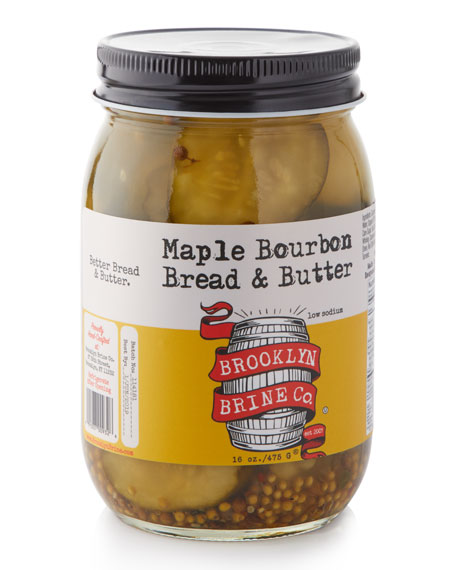 Brooklyn Brine Maple Bourbon Bread and Butter Pickles