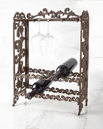 Metal Acanthus Leaf Wine Rack