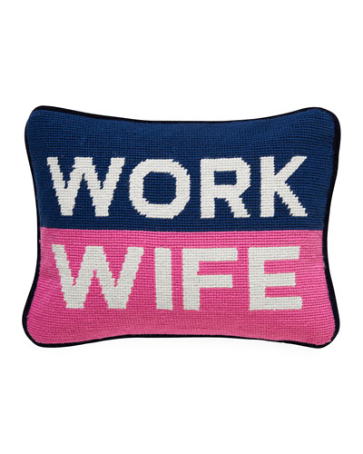 Work Wife Needlepoint Personality Pillow