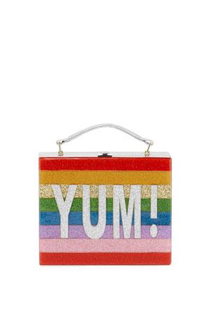 Bari Lynn Yum Rainbow Acrylic Lunch Box