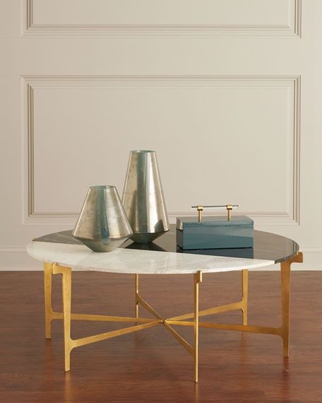 Yin Marble & Gold Leaf Coffee Table