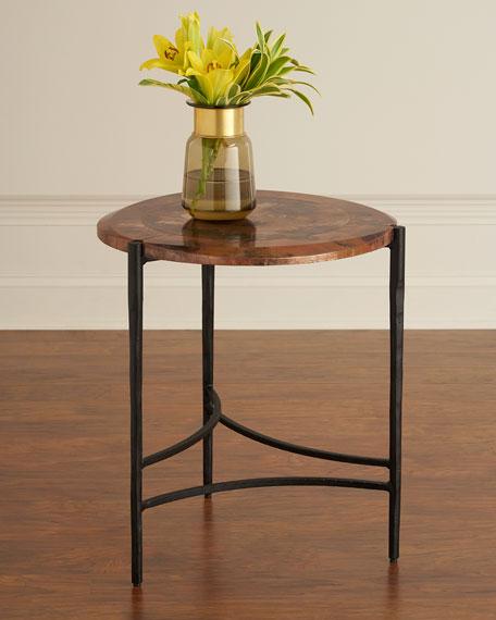Twila Copper & Iron Side Table