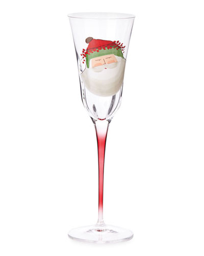 Old St. Nick Champagne Glass