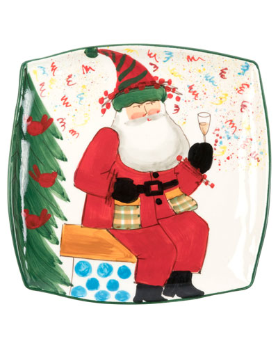Limited Edition Old St. Nick Square Platter