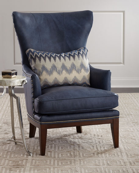 McAllister Leather Wing Chair
