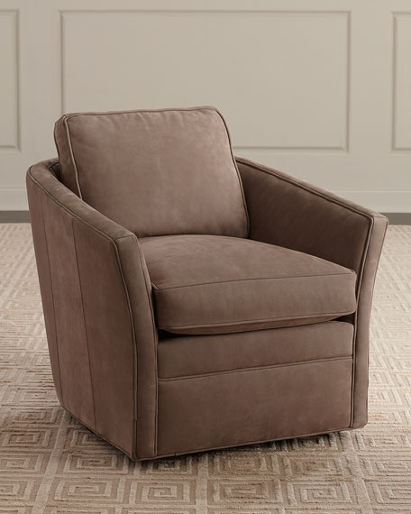 Snell Leather Swivel Chair