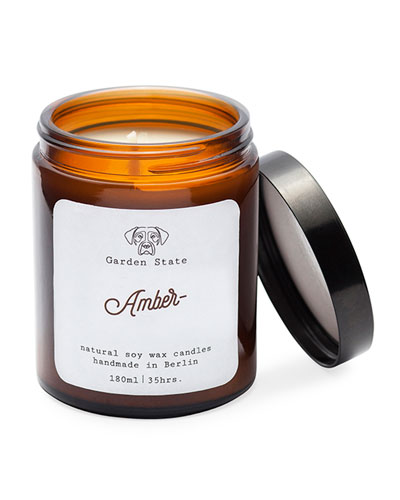 Amber Scented Soy Wax Candle