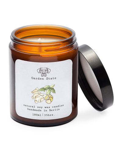 Green Tea & Ginger Scented Soy Wax Candle