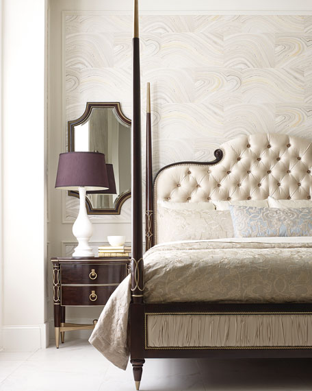 caracole Everly King Poster Bed and Matching Items