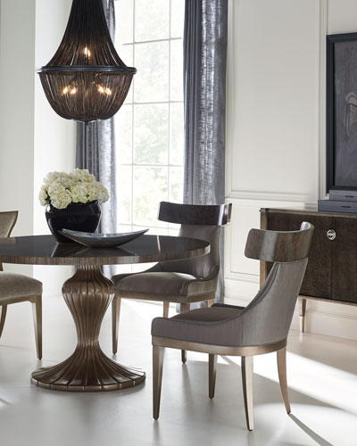 Caracole Round Table Discussion Dining Table