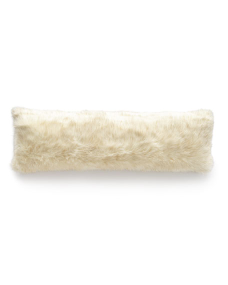 D.V. Kap Home Glamour Faux-Fur Bolster Pillow