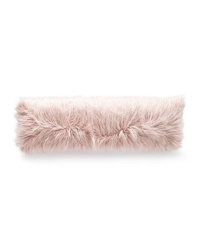 Llama Faux-Fur Bolster Pillow