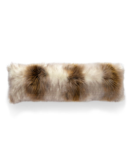 D.V. Kap Home Two-Tone Llama Faux-Fur Bolster Pillow