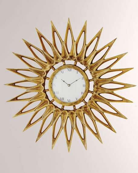 Global Views Dahlia Wall Clock