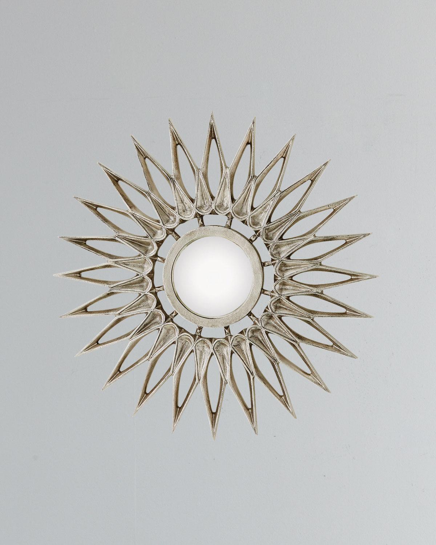 Global Views Sunburst Mirror Nickel: Global Views Dahlia Small Nickel Mirror