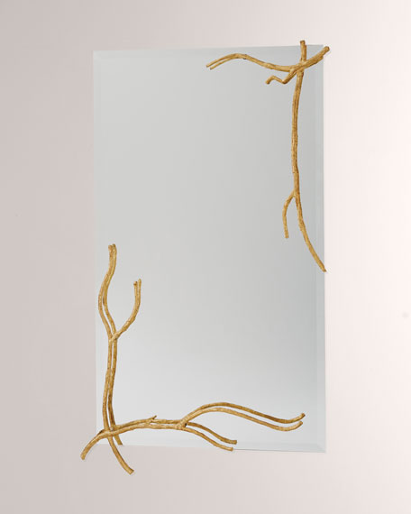 Global Views Twig Gold Leaf Large Mirror
