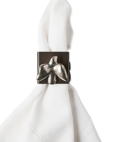 Jan Barboglio Golondrina Napkin Rings, Set of 4