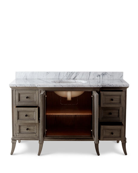 Danbury Marble-Top Vanity Chest