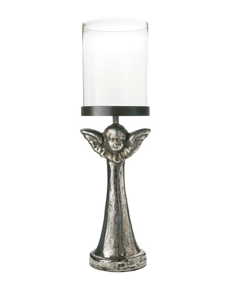 Jan Barboglio Patria Angel Hurricane Candleholder with Nickel