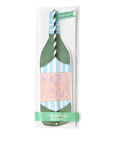 Curly Girl Design Mazel Tov Wine Straw Card
