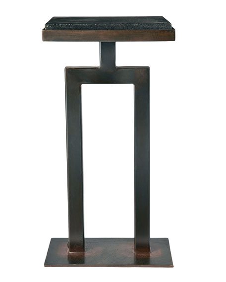 Jan Barboglio Square Granite Side Table