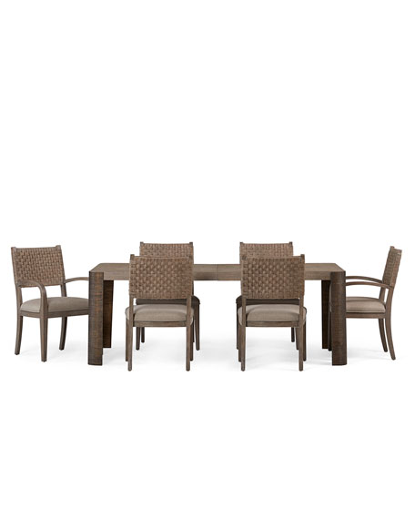 Pair of Mecate Woven-Back Dining Side Chairs