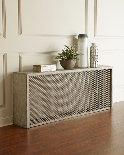 Barbara Linen Wrapped Console