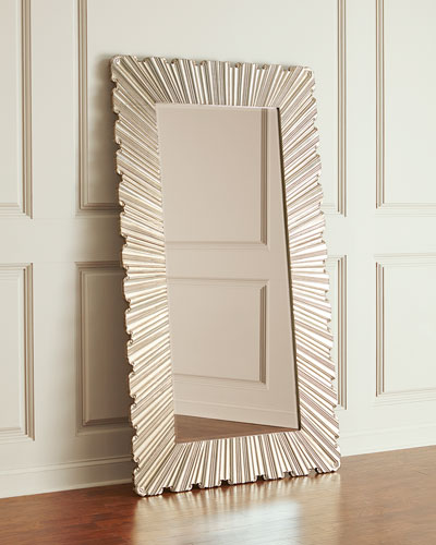 Glory Silver Design Floor Mirror