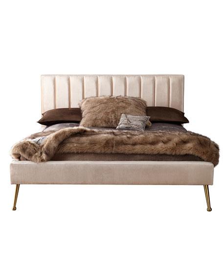 DeAngelo King Platform Bed with Metal Legs
