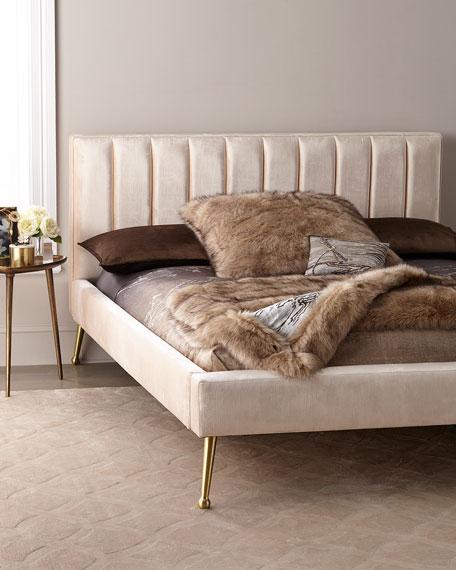 DeAngelo California King Platform Bed with Metal Legs