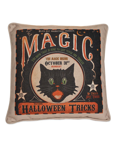 Magic Halloween Tricks Pillow
