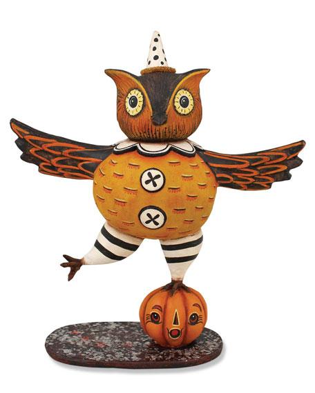 Dancing Owl Figure Halloween Decor