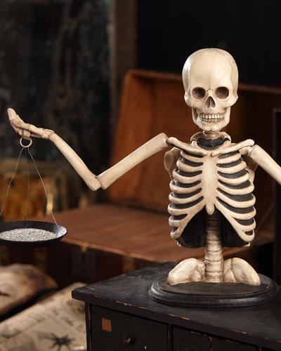 Skeleton Scale Halloween Decor