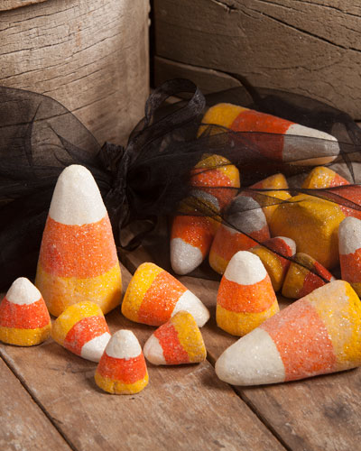 Candy Corns in Bag Halloween Decor, Set of 20