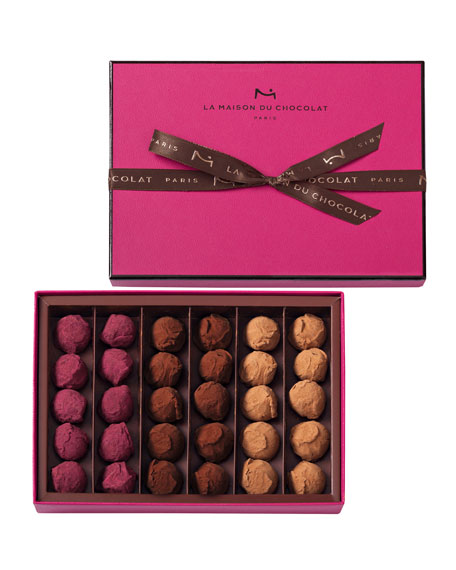 La Maison Du Chocolat 30-Piece Flavored Truffles Box