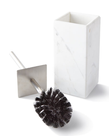 Toilet Bowl Brush with Marble Holder