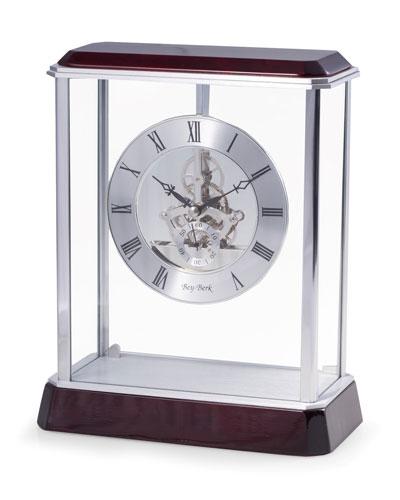 Rosewood Skeleton Desk Clock