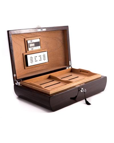 Ebony Wood Cigar Humidor