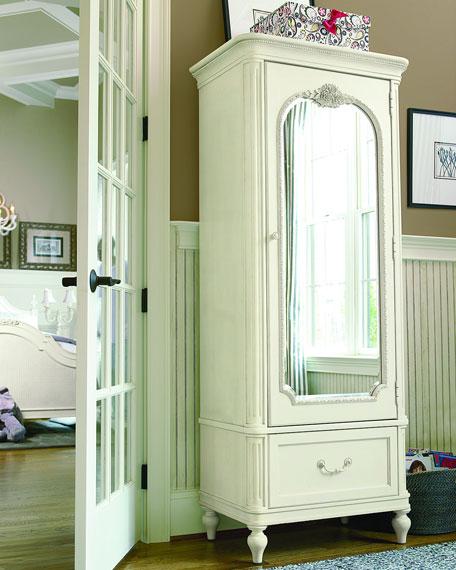 Blake Nursery/Kid's Bedroom Storage Armoire with Mirror