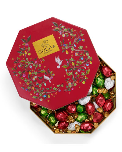 50-Piece Holiday Chocolate Tin