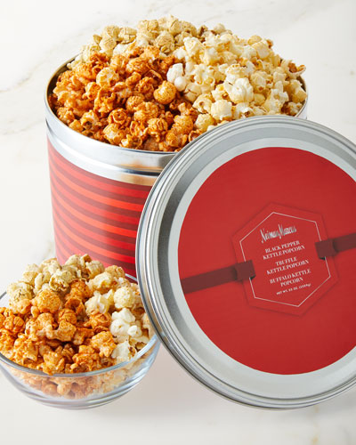 2 Gallon Tin Filled with Assorted Popcorns