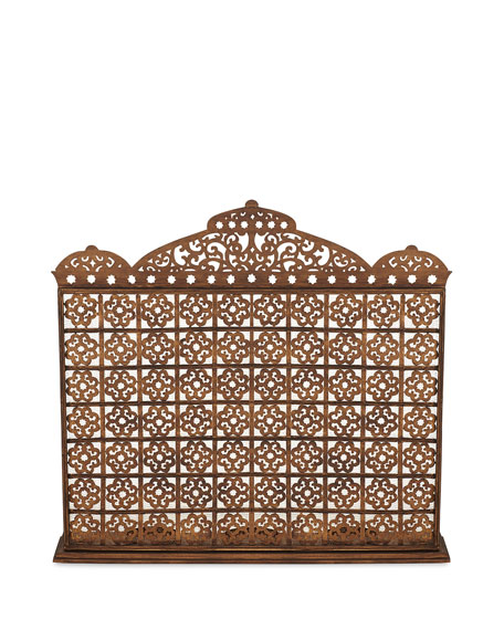 Image 2 of 3: Dr. Livingston Moroccan Fireplace Screen with Hurricanes