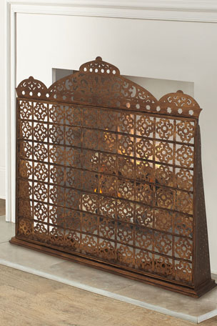 Dr. Livingston Moroccan Fireplace Screen with Hurricanes