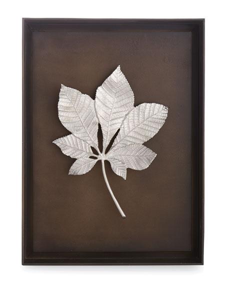 Michael Aram Chestnut Leaf Shadow Box