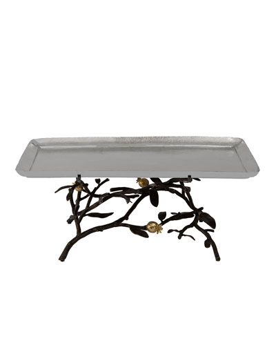 Pomegranate Large Footed Centerpiece Tray