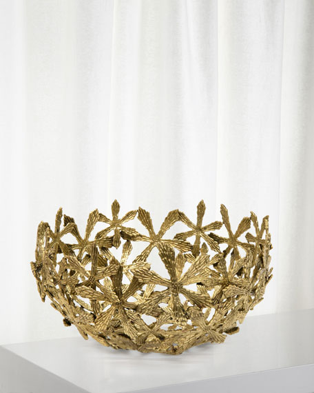 Cast Brass Shasta Daisy Decorative Bowl
