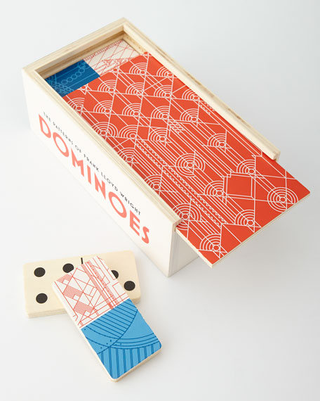 The Patterns of Frank Lloyd Wright Wooden Dominoes Game