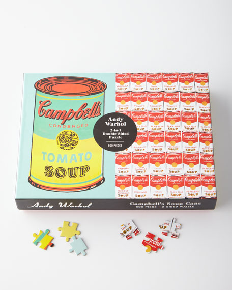 Andy Warhol Soup Cans 2-in-1 Double-Sided Puzzle