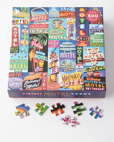 Vintage Motel Signs Puzzle