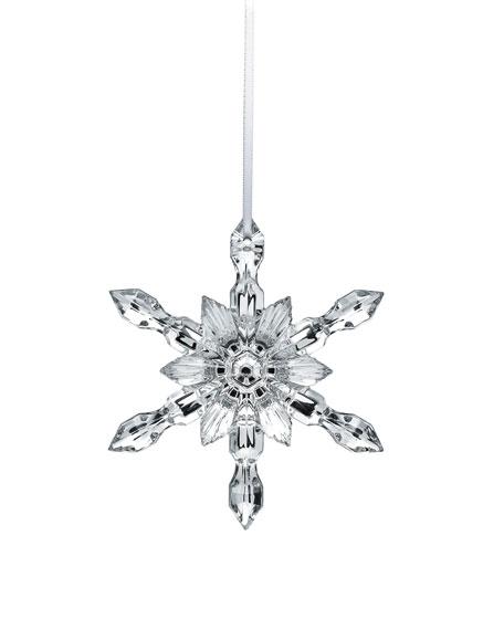 Baccarat Silver Snowflake Christmas Ornament